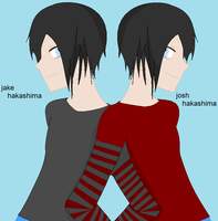 jake and josh hakashima -O.H.S.H.C OC's- by minatchi
