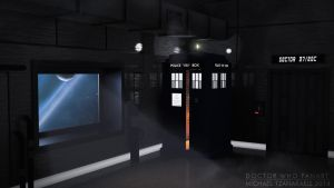 The TARDIS In A Space Station by MichaelTzan