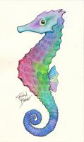 Commission: Seahorse Tattoo Design by KlunkyBoots