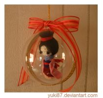 Commission: Christmas Tree Ornament - Micro Mulan by Yuki87