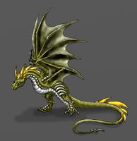 Verden-Long Tailed Wyvern by Scatha-the-Worm