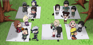Naruto All Chibi - Lineart Colored by DennisStelly