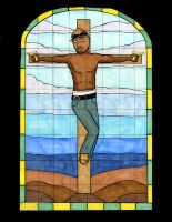 Tupac Crucified by TheSpazOutLoud