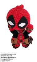 Arjeloops Deadpool Crochet Doll by Arjeloops