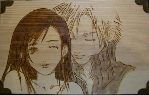 Tifa and Cloud by akicafe