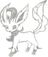 Leafeon Sketch by CoolMan666