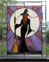 Stained Glass Witch by Raventalker
