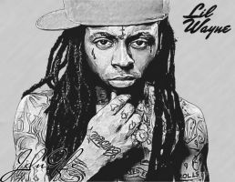 Lil Wayne Fan Art - Sketch EFX by JdnGfx