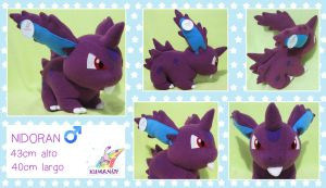 Nidoran male pokemon plushie by chocoloverx3