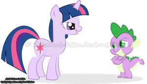 Twilight Sparkle and Spike by Koizumi-Rika