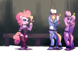Commission: Spanking Party by bakki