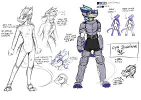 Character Ref' - Cyan by EMP-83