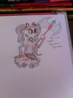 Cylindria Crystal guardian of Bravery by angelchibivocaloid