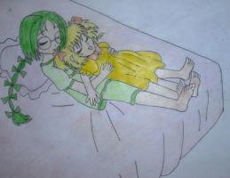 Sleeping Lettuce and Pudding by Animedalek1