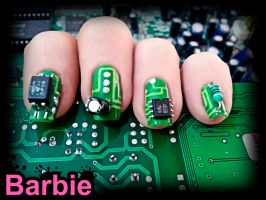 Circuit Nails by BarbieNailArt
