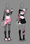 Pink-Black Outfits - Auction closed by Nahemii-san