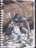 Batman vs Joker by theexodus97