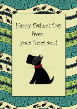 Happy Father's Day Black Dog by Pur3Rep0se