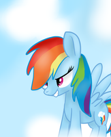 Rainbow Dash! by Littleblackraencloud