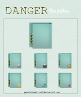 Danger Blue Folders. by PelushitaPetisuit