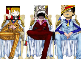 Three Admirals of the One Piece Wiki by RyuPointGame