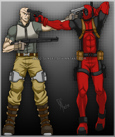 Agent X, Deadpool_You BItd-I by Anko-sensei