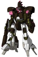 NRX-044Q Asshimar Danda-Chakra (mobile suit mode) by unoservix