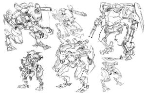 Quick Ideation Sketches by Takumer