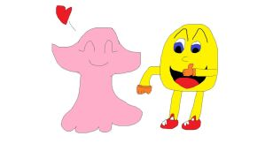 Pinky and Pac Man by Koleyl