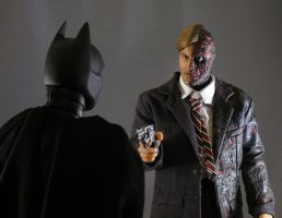 Batman and Two-Face by maulsballs