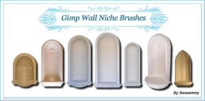 Gimp Wall  Niche  Brushes by Geosammy