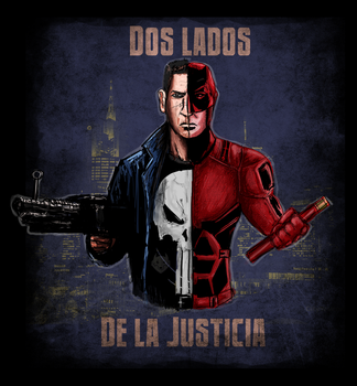 Punisher Daredevil Two sides of Justice by LetalThrasher