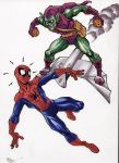 Spidey vs Green Goblin by Dogsupreme
