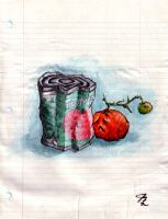 Crushed Tomatos by Quilsnap