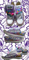 Musical Space Adventure Shoes by marywinkler