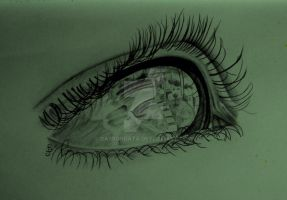 Eye with reflection by CarbonData
