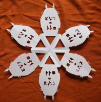 Totoro Paper Snowflake by sabrinahc