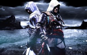 Altair and Edward Kenway - Honor and Glory by JM97GF