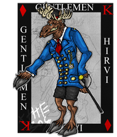 Gentleman moose .:Art Trade:. by xTheBoss