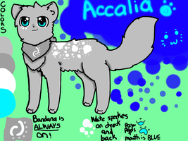 Accalia Ref Sheet -CURRENT- by Azura-Kat