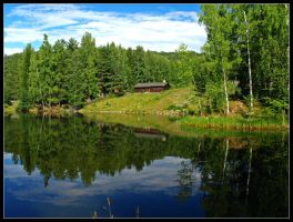 Norway - Rustic Reflections by AgiVega