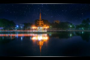Yangon Lake Temple by tmz99