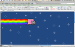 Nyan Cat in Microsoft Excel by oscarit07
