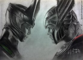 Thor and Loki by LPSoulX