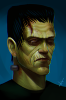 Classic Frankenstein's Monster. by victter-le-fou