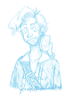 Guybrush Threepwood sketchy sketch by Yerapa