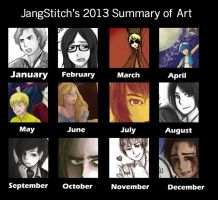 2013 Summary of Art by jangstitch