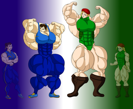 Growth Drive: Chun Li x Cammy (Growth 10/Final) by FudgeX02