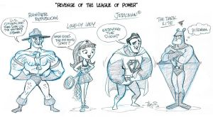 Revenge of the League of Power_ Line up pt1 by tombancroft