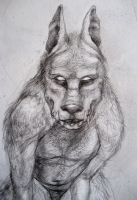 Werewolf-Front View by MonicaMcClain